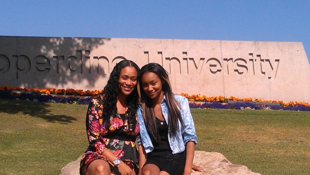 My daughter Lyric on Pepperdine Campus